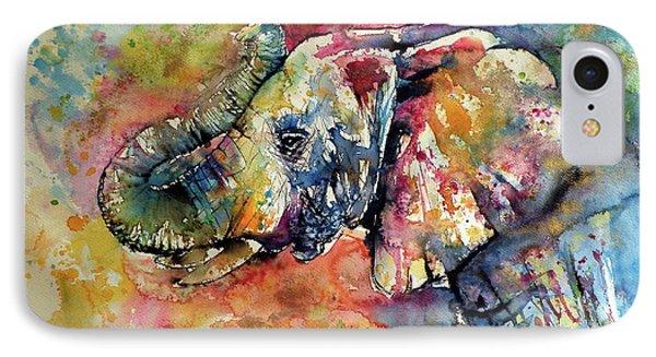 Colorful Elephant II IPhone Case