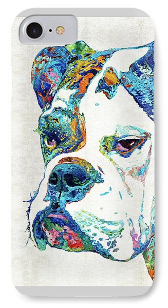 Colorful English Bulldog Art By Sharon Cummings IPhone Case by Sharon Cummings