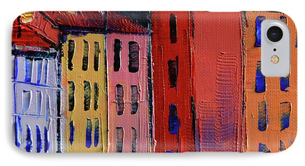 Colorful Facades IPhone Case by Mona Edulesco