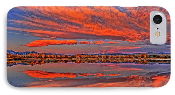 IPhone Case featuring the photograph Colorful Fall Morning by Scott Mahon