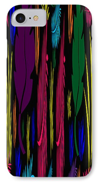 Colorful Feathers Abstract IPhone Case