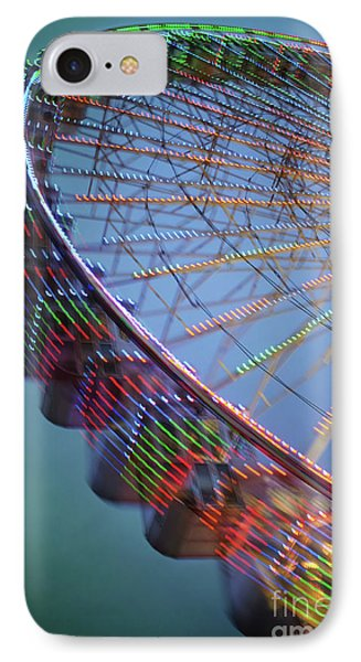 Colorful Ferris Wheel IPhone Case by Carlos Caetano