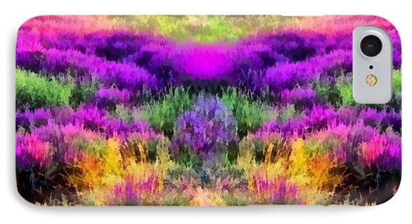 Colorful Field Of A Lavender IPhone Case by Anton Kalinichev
