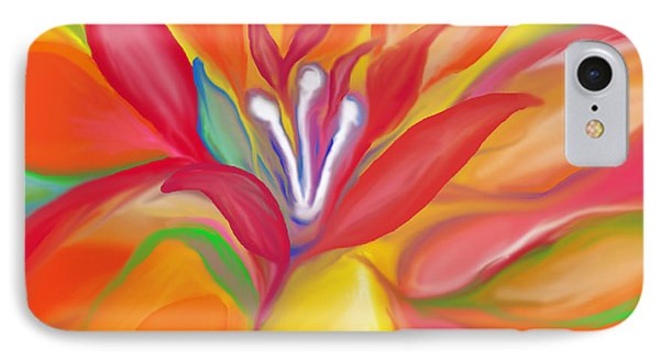 Colorful Flower IPhone Case by Art Spectrum