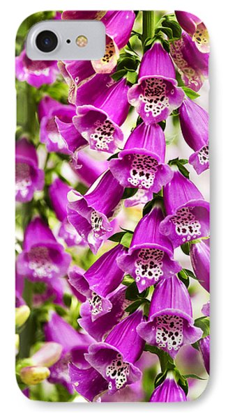 Colorful Foxglove Flowers IPhone Case