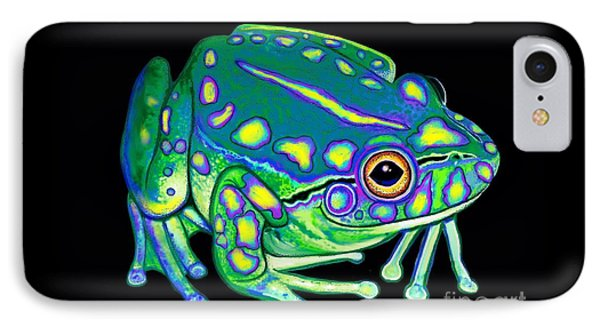 IPhone Case featuring the painting Colorful Froggy 2 by Nick Gustafson