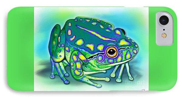 IPhone Case featuring the painting Colorful Froggy by Nick Gustafson