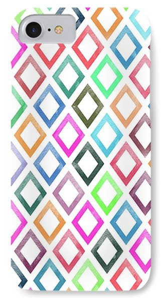 Colorful Geometric Patterns  IPhone Case by Amir Faysal