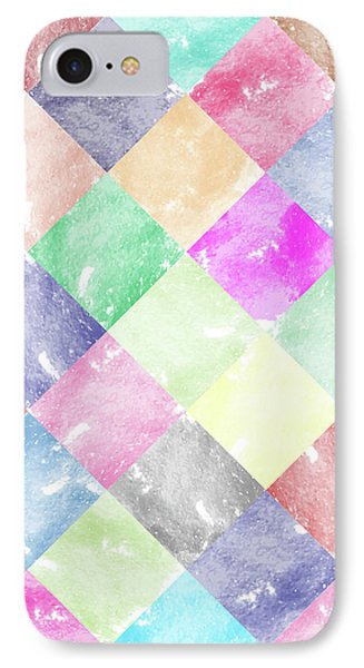 Colorful Geometric Patterns IIi IPhone Case by Amir Faysal