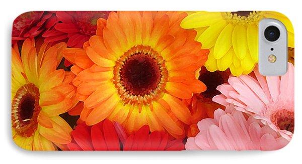 Colorful Gerber Daisies Phone Case by Amy Vangsgard