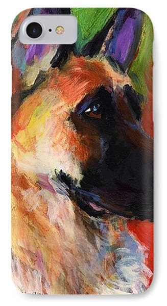 Colorful German Shepherd Painting By IPhone Case
