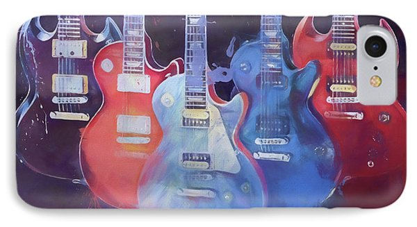 Colorful Gibson Guitars IPhone Case by Dan Sproul
