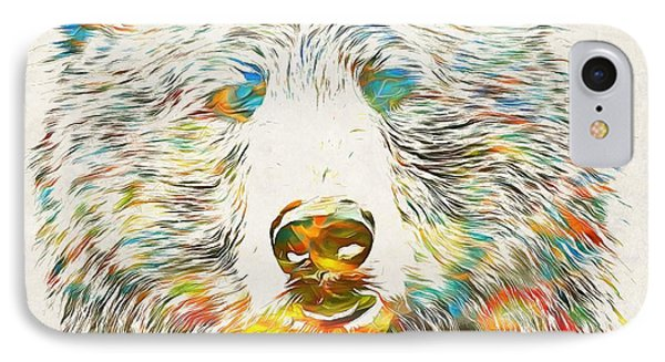 Colorful Grizzly Bear IPhone Case