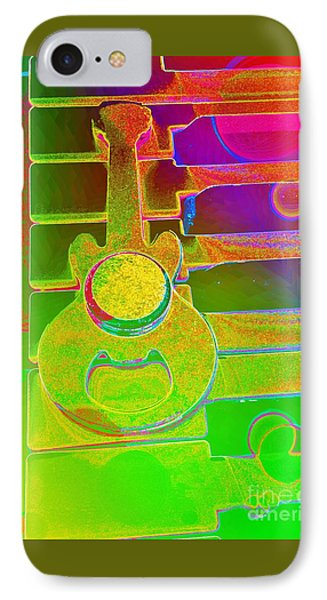 Colorful Guitar And Piano 1 By Jasna Gopic IPhone Case by Jasna Gopic