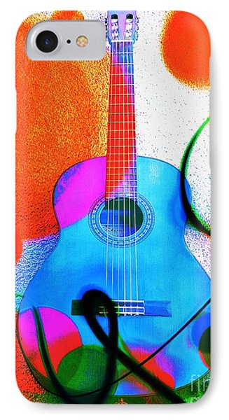Colorful Guitar By Jasna Gopic IPhone Case by Jasna Gopic