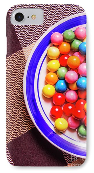 Colorful Gumballs On Plate IPhone Case by Jorgo Photography - Wall Art Gallery