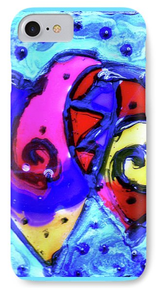 Colorful Hearts Equals Crazy Hearts IPhone Case by Genevieve Esson