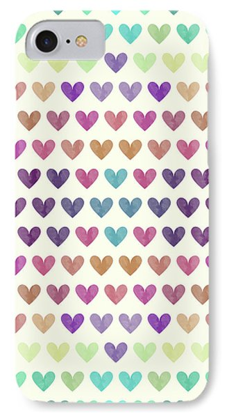 Colorful Hearts IIi IPhone Case by Amir Faysal