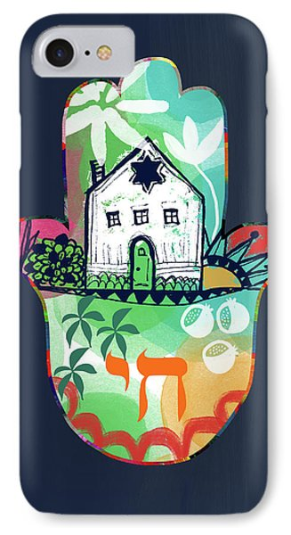 Colorful Home Hamsa- Art By Linda Woods IPhone Case by Linda Woods