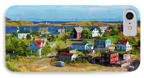 Colorful Homes In Trinity, Newfoundland - Painterly IPhone Case by Les Palenik