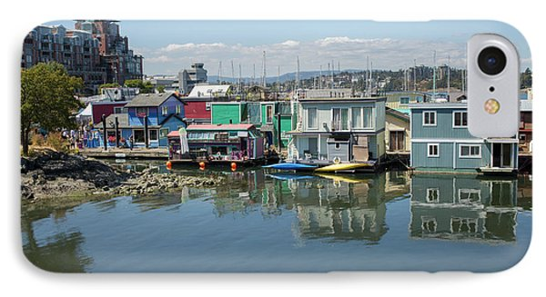 IPhone Case featuring the photograph Colorful Houseboats In Victoria, Canada by Patricia Hofmeester