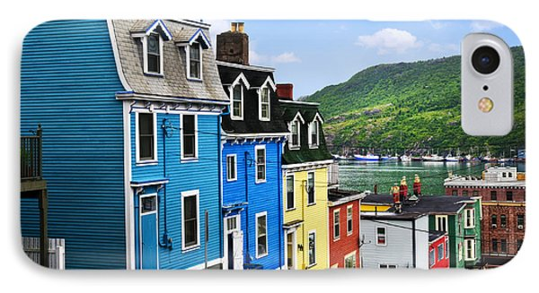 Colorful Houses In St. John's Phone Case by Elena Elisseeva