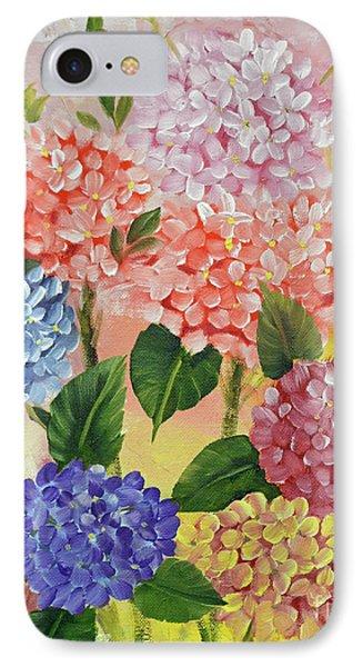 Colorful Hydrangeas IPhone Case