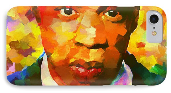 Colorful Jay Z Palette Knife IPhone 7 Case by Dan Sproul