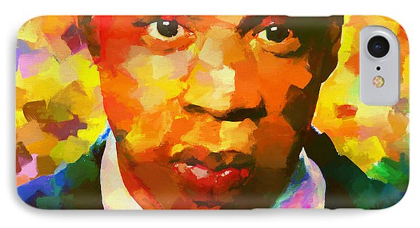 Colorful Jay Z Palette Knife IPhone Case by Dan Sproul
