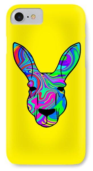 Colorful Kangaroo IPhone Case by Chris Butler