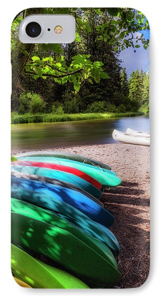 Colorful Kayaks IPhone Case by Cat Connor