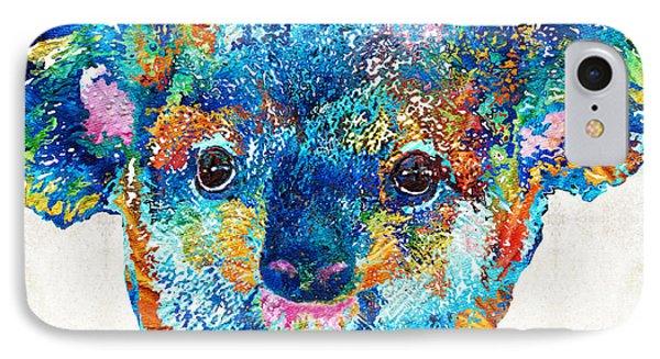 Colorful Koala Bear Art By Sharon Cummings IPhone Case by Sharon Cummings