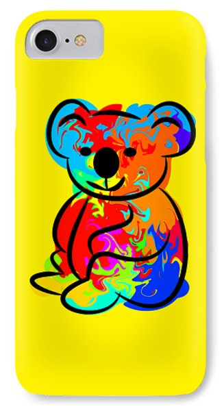 Colorful Koala IPhone Case by Chris Butler