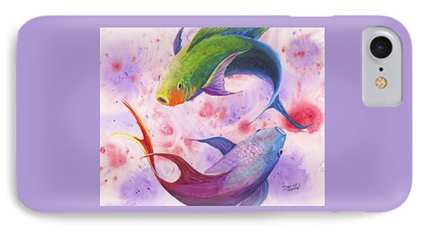 Colorful Koi IPhone Case by Darice Machel McGuire