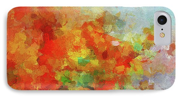 IPhone Case featuring the painting Colorful Landscape Art In Abstract Style by Ayse Deniz