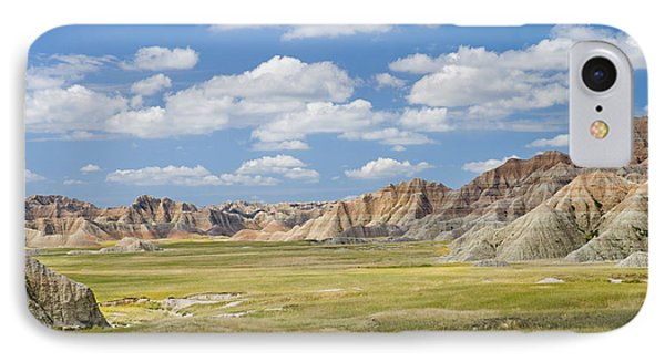 Colorful Landscape In Badlands National Phone Case by Philippe Widling