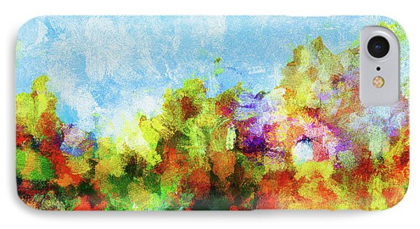 IPhone Case featuring the painting Colorful Landscape Painting In Abstract Style by Ayse Deniz