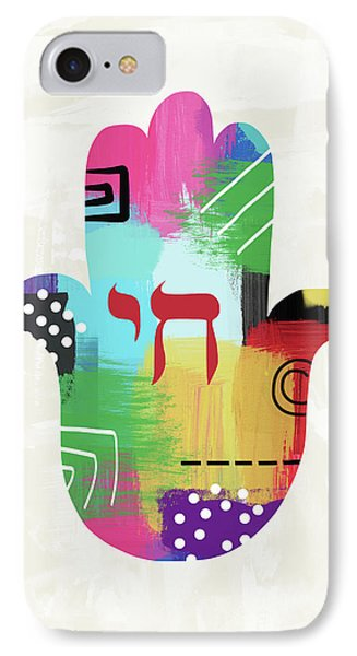 Colorful Life Hamsa- Art By Linda Woods IPhone Case by Linda Woods