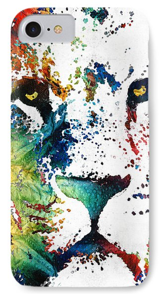 Colorful Lion Art By Sharon Cummings IPhone 7 Case