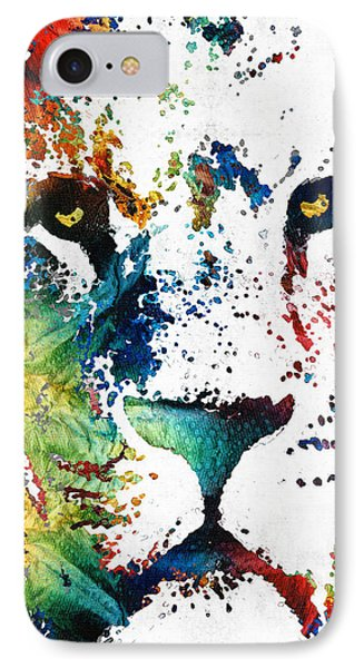 Colorful Lion Art By Sharon Cummings IPhone 7 Case by Sharon Cummings