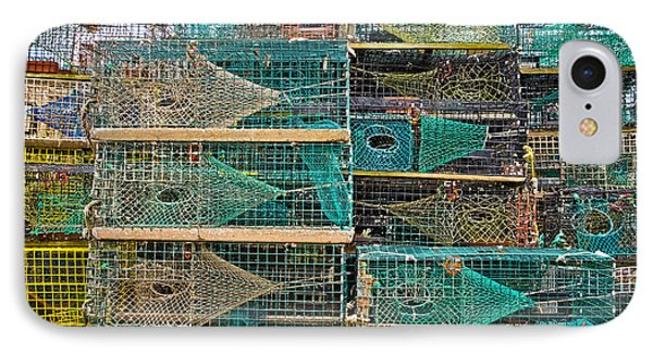 Colorful Lobster Traps IPhone Case by Colleen Kammerer