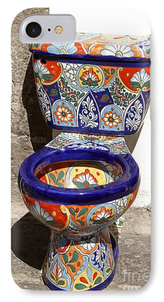 Colorful Mexican Toilet Puebla Mexico IPhone Case by John  Mitchell