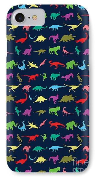 Colorful Mini Dinosaur IPhone 7 Case by Naviblue