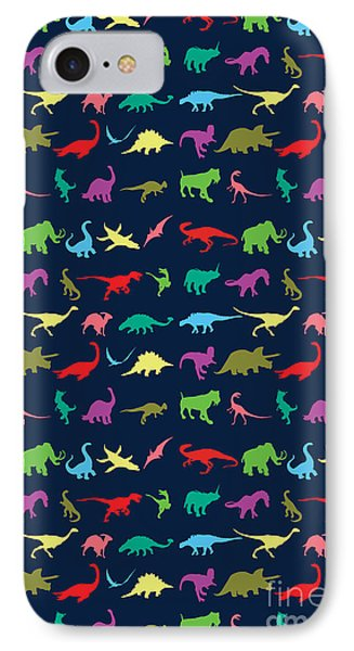 Colorful Mini Dinosaur IPhone 7 Case by Naviblue