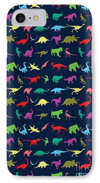 Colorful Mini Dinosaur IPhone Case by Naviblue