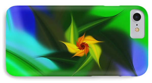 Colorful Modern Abstract Flower IPhone Case by Georgiana Romanovna