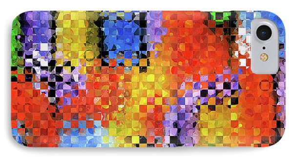 Colorful Modern Art - Pieces 11 - Sharon Cummings IPhone Case by Sharon Cummings