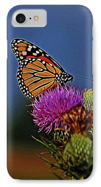 IPhone Case featuring the photograph Colorful Monarch by Sandy Keeton