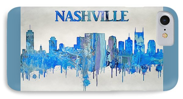 Colorful Nashville Skyline Silhouette IPhone Case by Dan Sproul