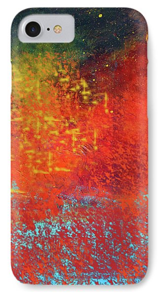 IPhone Case featuring the painting Colorful Night by Nancy Merkle
